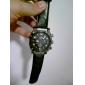 V6 Hommes Montre Militaire Montre Bracelet Quartz Quartz Japonais Polyuréthane Bande Noir Noir
