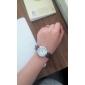 Masculino Mulheres Casal Relógio Elegante Quartzo Japonês Quartzo PU Banda Marrom