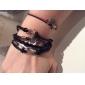 Women's Charm Bracelet Wrap Bracelet Leather Bracelet Multi Layer European Vintage Personalized Inspirational Fashion Costume Jewelry