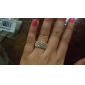 Korean jewelry wholesale diamond luxury full diamond ring that noble (random color)Imitation Diamond Birthstone