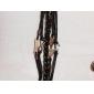 Браслет многослойный кожаный с кулонами из сплава в форме якоря, сов и знака бесконечности