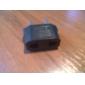 EU Plug to EU and US Plug AC Power Adapter (110-240V)