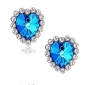 Stud Earrings Sapphire Gemstone Rhinestone Glass Simulated Diamond Alloy Heart Jewelry Wedding Party Daily Casual Sports 2pcs