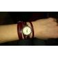 Женская Винтаж Длинные Wrap Кожаный ремешок Кварцевые аналоговые наручные часы (разных цветов)
