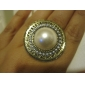 European And American Trade Jewelry Exaggerated Pearl Round Hat Ring R286