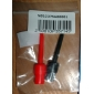 Electrical Plastic + Iron Testing Hook (Red + Black, Size L / 2 PCS)