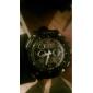 Multi-fonctionnel analogique-numérique cadran rond des hommes Rubber Band Wrist Watch (couleurs assorties)