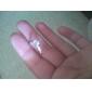 Mulheres Anéis Grossos Amor Casamento Clássico Zircão Prata Chapeada Seis Pontas Jóias Para Casamento Diário