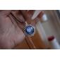 Eruner®Handmade Glass Dome Cabochon Lacework Pendant, Bib necklace, Colorful Nebula