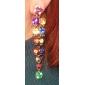 Los pendientes de gota cristalinos coloridos de cola larga