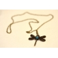 Dragonfly Metal Inlaid With Diamond Necklace