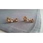 Love Korean Ladies Pearl Earrings Korean Cute Flash Diamond Earrings Female Love  E193
