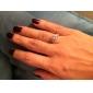 Кольца на вторую фалангу Имитация Алмазный Любовь Pоскошные ювелирные изделия Свадьба Нержавеющая сталь Циркон ЦирконийКруглой формы В