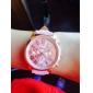 Женские Модные часы Кварцевый PU Группа Белый Синий Розовый