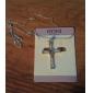 Ожерелье Ожерелья с подвесками Бижутерия Повседневные Крестообразной формы Сплав Стразы Подарок Серебряный