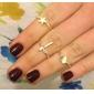 Women's 2013 New European And American Retro Cross Love Pentagram Three-Pieces Ring