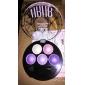 5 цветов ubub профессиональной обожженной 3в1 штейн&сверкание&мерцающий металлический цвет глаз тени порошок косметическая палитра