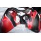 de protección de dos colores Funda de Silicona para mando Xbox 360 (negro y rojo)
