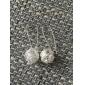 Femme Boucles d'oreille goutte bijoux de fantaisie Plaqué argent Bijoux Pour Soirée Quotidien