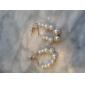 Yiwu factory direct new string of pearl earrings creative Korean jewelry wholesale pearl pendant earrings E178