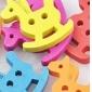 colorido trojan recados scraft costura botões de madeira diy (10 peças)