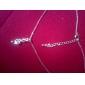 Женский Ожерелья с подвесками Серебрянное покрытие Позолота Музыкальные ноты Серебряный Бижутерия Повседневные
