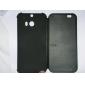 htc vue dot étui en cuir flip couverture intelligente d'auto-sommeil d'origine pour HTC One M8 avec prise de poussière (couleurs