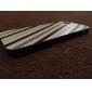черный и белый диагональный рисунок полосы жесткий футляр для iPhone 5 / 5S