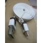 삼성 / 화웨이 / ZTE / 노키아 / HTC / 소니 에릭슨 플랫 형 화이트 (1M)에 대한 남성 데이터 케이블에 USB 남성에 마이크로 USB