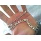 унисекс 6мм серебра цепи ожерелье ювелирные изделия No.115