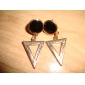 lureme®enamel 삼각형 귀걸이