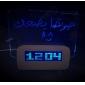 Message Board Blue Light Digital Alarm Clock with 4 USB Port Hub (USB)