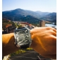 argus panoptes - Herren-Multi-Bewegung PU-Leder Sport-Armbanduhr (farbig sortiert)