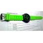 montre des sports mécaniques gravure creuse le bracelet en silicone des hommes