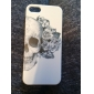 Dure de cas modèle de fleur de crâne pour iPhone5/5S
