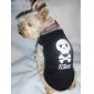 schönen Killerschädelmusterweste für Hunde (schwarz, XS-L)