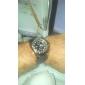 Herren Armbanduhr Japanischer Quartz Caucho Band Schwarz Marke- V6