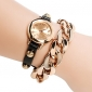 Women's Watch Golden Plated Chain Bracelet