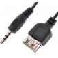 Аудио шнур 3.5мм (мужской) на USB (женский) (0.1м)