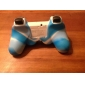 защитный двойной цвет силиконовый чехол для PS3 контроллер (синий и белый)
