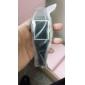 Musta silikonihihna LED rannekello neliskulmaisella taululla