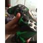 estilo camuflaje protector de silicona caso para PS3 controlador (verde y negro)
