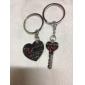 Ruostumattomat parien avaimenperät (sydämmet/ 2-osainen setti)