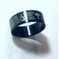 Miss ROSE®Cross with Scripture Titanium Steel Couple Ring (1 PCS)