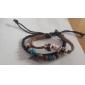 Femme Bracelets en cuir Mode bijoux de fantaisie Cuir Ambre Turquoise Forme de Feuille Bijoux Pour Décontracté Regalos de Navidad