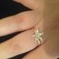 Anéis Pesta / Diário / Casual Jóias Liga Feminino Anéis Statement10 Dourado