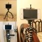 6,5 pollici desktop flessibile fotocamera digitale treppiede - arancio (carico max 275g)