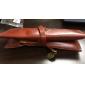 Vintage Totem Pattern PU Leather Pen Bag (Brown)
