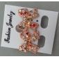 Women's Korean diamond bow sweet earrings E450