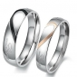 """""""Real Love"""" Heart Stainless Steel Band Ring Valentine Couples Wedding Engagement Promise Rings"""